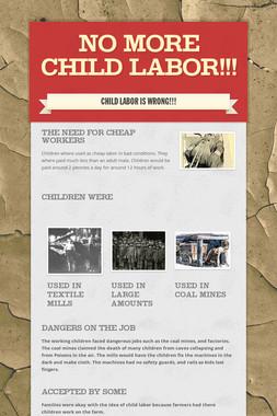 No More Child Labor!!!