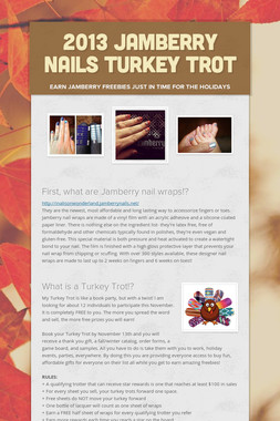 2013 Jamberry Nails Turkey Trot