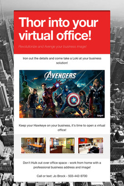 Thor into your virtual office!