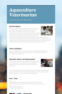 Aquaculture Veterinarian