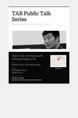 TAB Public Talk Series