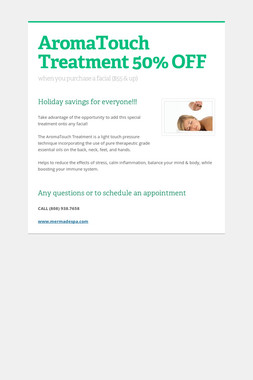 AromaTouch Treatment 50% OFF