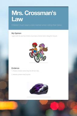 Mrs. Crossman's Law