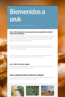Bienvenidos a uruk