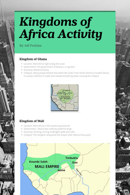 Kingdoms of Africa Activity