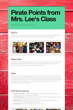 Pirate Points from Mrs. Lee's Class