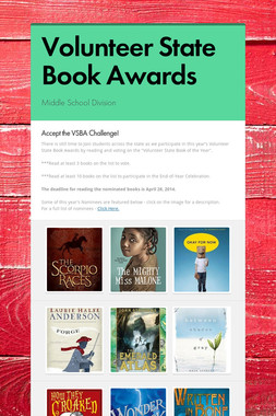 Volunteer State Book Awards