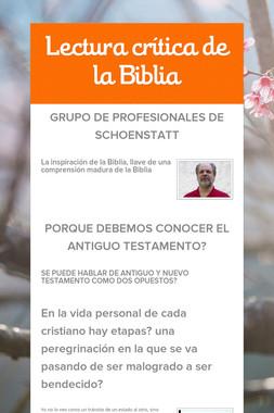 Lectura crítica de la Biblia