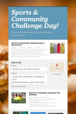 Sports & Community Challenge Day!