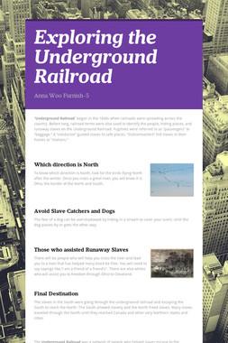 Exploring the Underground Railroad