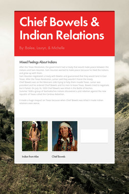 Chief Bowels & Indian Relations