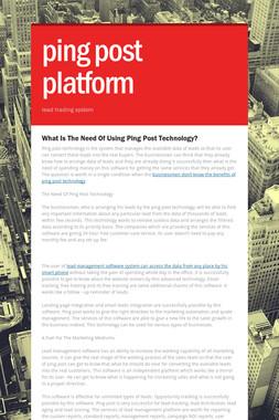 ping post platform