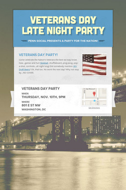 Veterans Day Late Night Party