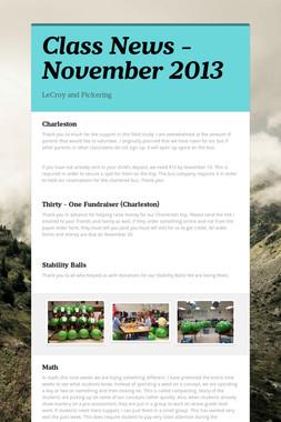 Class News - November 2013