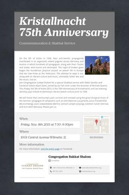 Kristallnacht 75th Anniversary