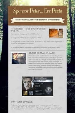 Sponsor Peter... Err Peeta