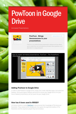 PowToon in Google Drive