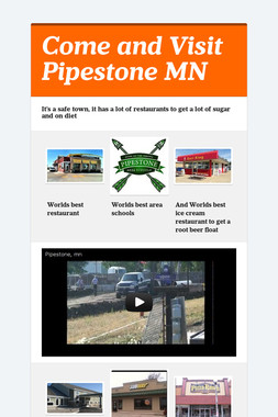 Come and Visit Pipestone MN