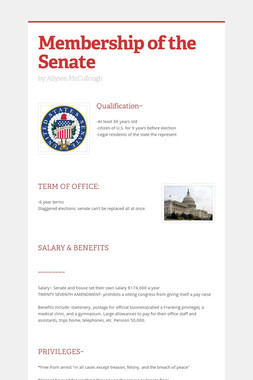 Membership of the Senate