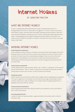 Internet Hoaxes