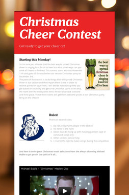 Christmas Cheer Contest