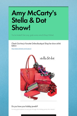 Amy McCarty's Stella & Dot Show!