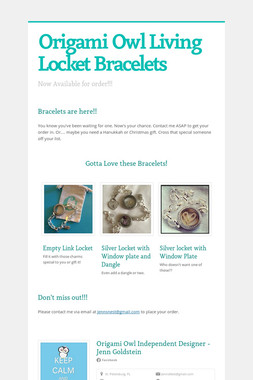 Origami Owl Living Locket Bracelets