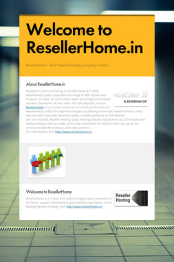 Welcome to ResellerHome.in