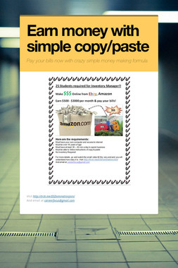 Earn money with simple copy/paste