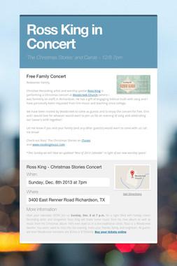 Ross King in Concert