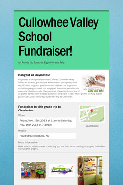 Cullowhee Valley School Fundraiser!