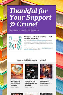 Thankful for Your Support @ Crone!