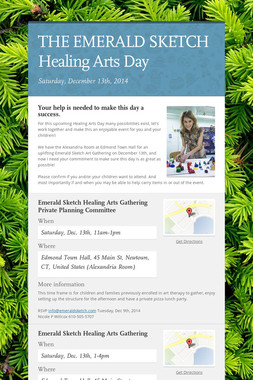 THE EMERALD SKETCH Healing Arts Day