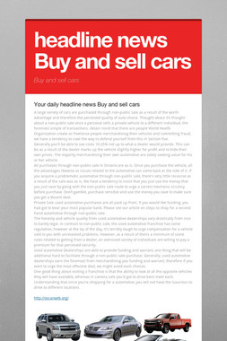 headline news Buy and sell cars