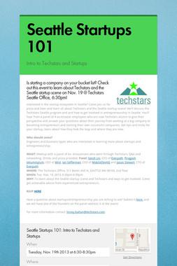 Seattle Startups 101