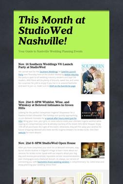 This Month at StudioWed Nashville!