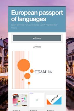 European passport of languages