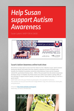 Help Susan support Autism Awareness