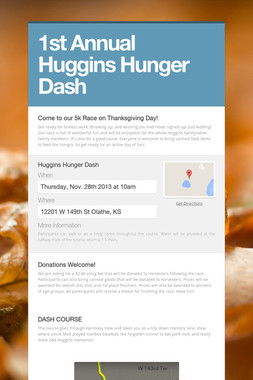 1st Annual Huggins Hunger Dash