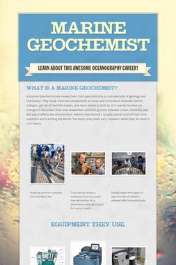 Marine Geochemist
