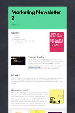 Marketing Newsletter 2