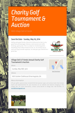 Charity Golf Tournament & Auction