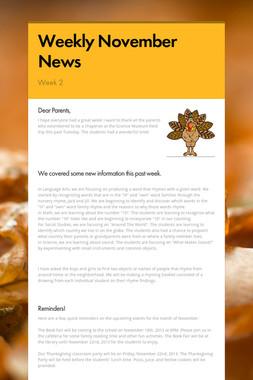 Weekly November News