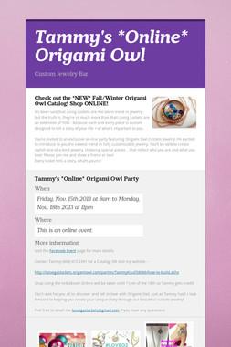 Tammy's *Online* Origami Owl