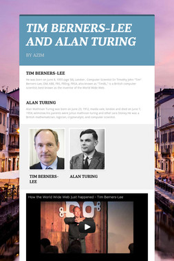 TIM BERNERS-LEE AND ALAN TURING