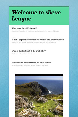 Welcome to slieve League