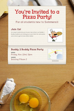 You're Invited to a Pizza Party!