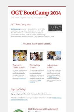 OGT BootCamp 2014