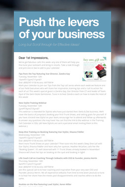 Push the levers of your business