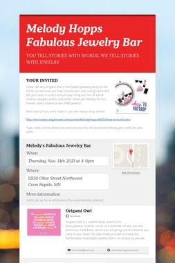 Melody Hopps Fabulous Jewelry Bar
